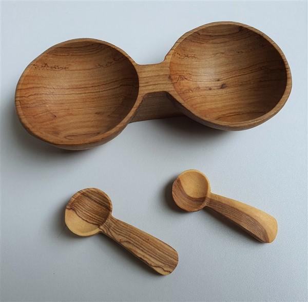 Holzschale, 2-teilig
