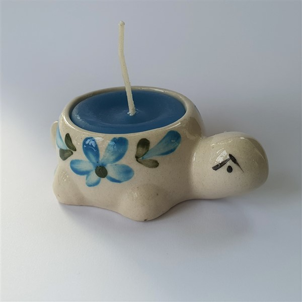 Schildkröte mit Kerze
