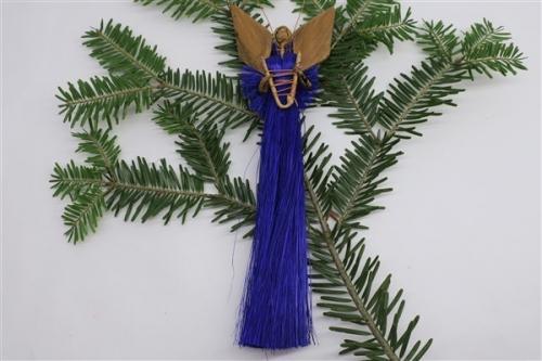 Engel aus Sisal h~17cm, violett