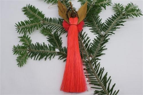 Engel aus Sisal h~17cm, rot
