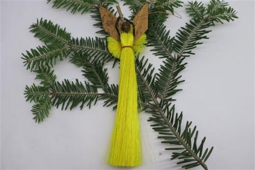 Engel aus Sisal h~17cm, gelb