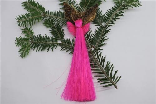 Engel aus Sisal h~17cm, pink