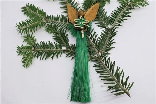 Engel aus Sisal h~17cm, grün