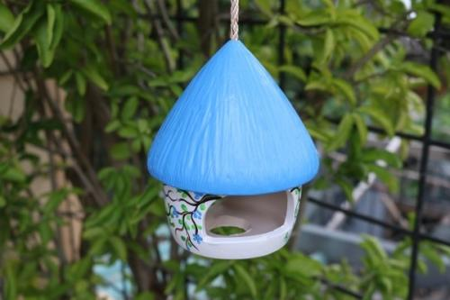 Vogelhaus, blau