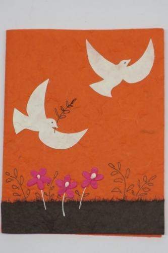 """Grußkarte, """"weisse Tauben"""", 10 Stück"""