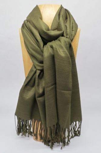 Schal, olivgrün
